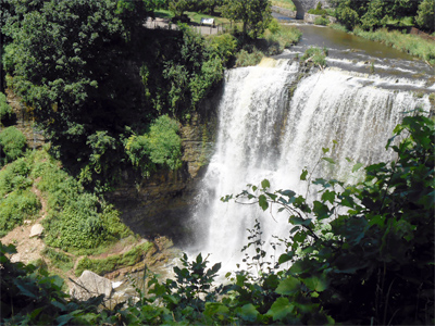 Webster's Falls, as seen from above