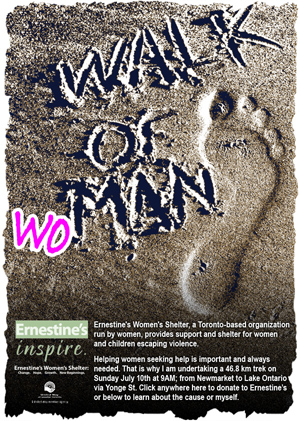 Walk of woMAN promotional email